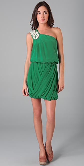Tibi Farrah One Shoulder Dress
