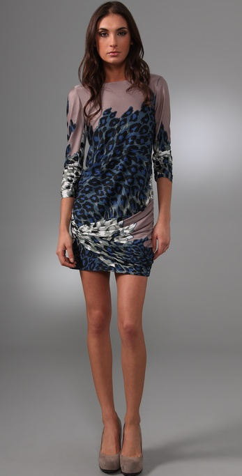 Tibi Zola Draped Shift Dress