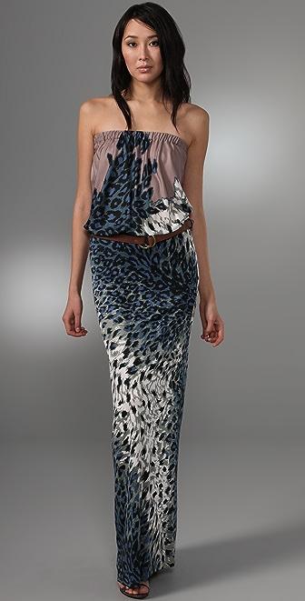 Tibi Zola Long Strapless Dress