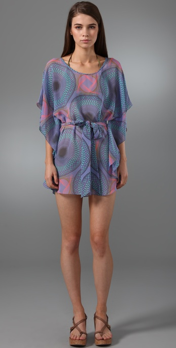 Tibi Solar Eclipse Cover Up Caftan