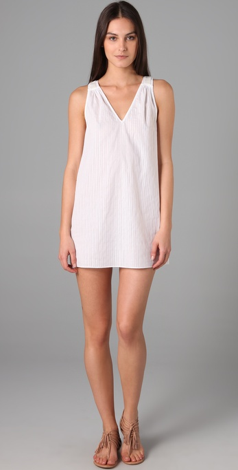 Tibi Beaded Dobby Cover Up