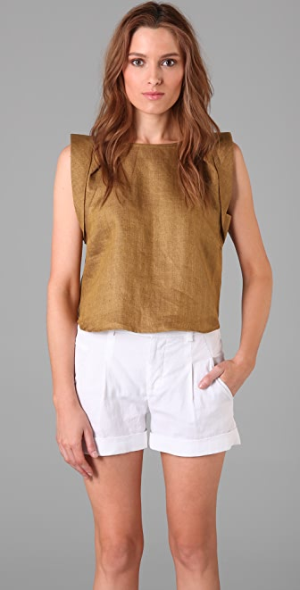 Tibi Cropped Top
