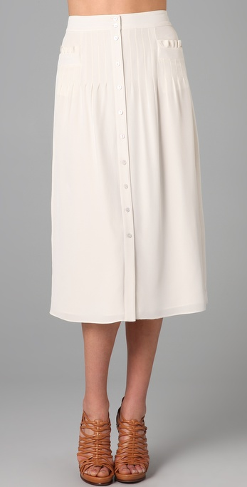 Tibi Lillian Midi Skirt
