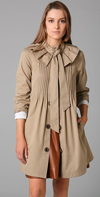 Tibi Bow Trench Coat