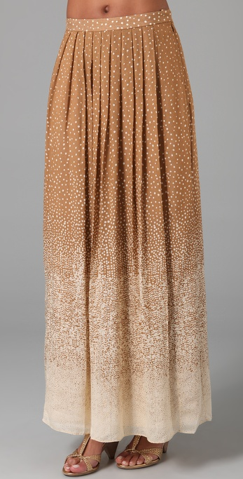 Tibi Constellation Print Long Skirt