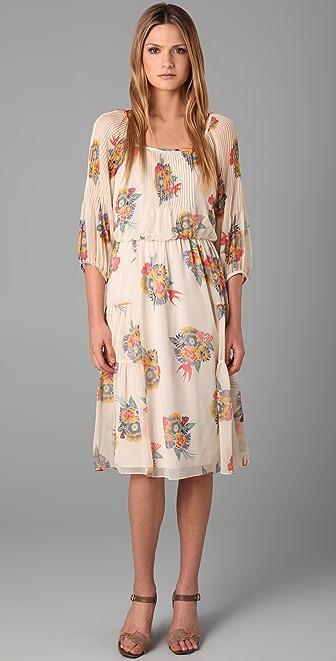 Tibi Deco Bouquet Print Dress
