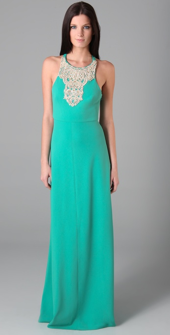 Tibi Beaded Long Dress