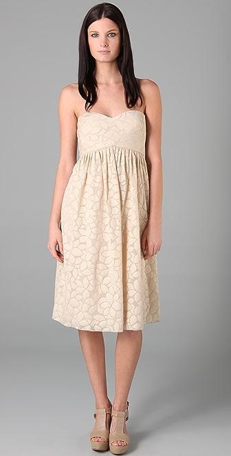 Tibi Petal Strapless Dress