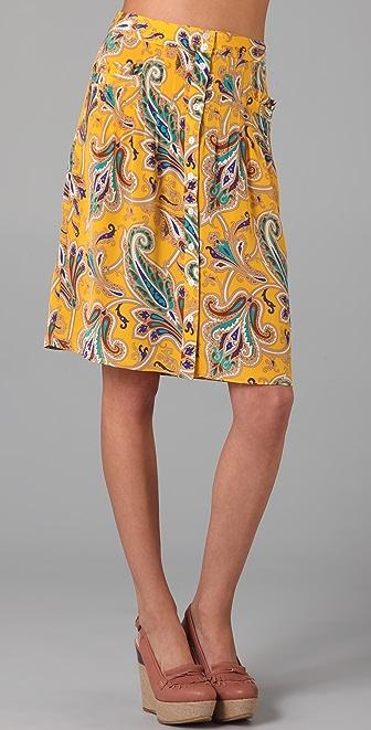 Tibi Paisley Skirt