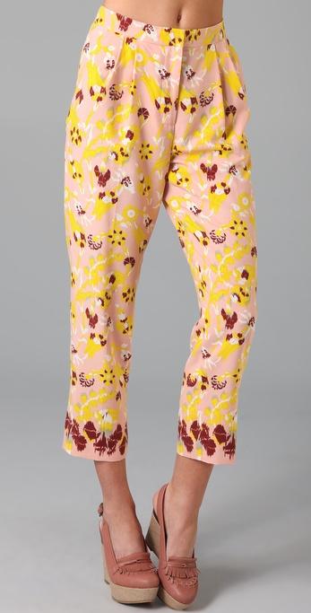 Tibi Ankara Print Pants