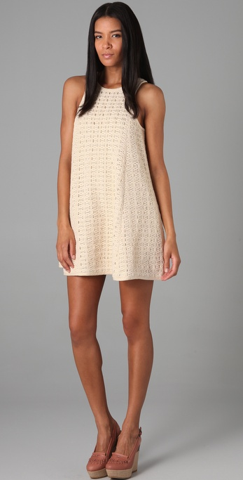 Tibi Lo Bello Crochet Dress