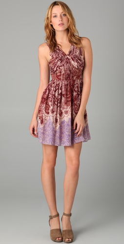 Tibi Paisley Pleated Dress