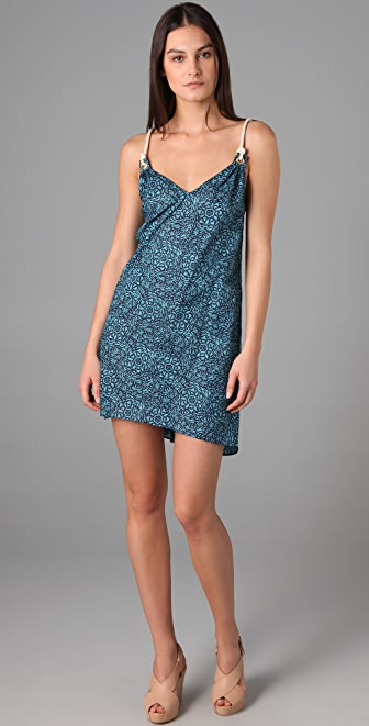 Tibi Cotton Lawn Rope Cover Up