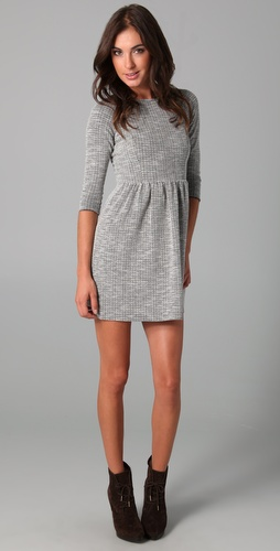 Tibi Wide Neck Knit Dress