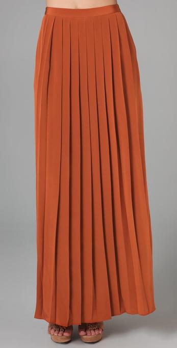 Tibi long pleated skirt shopbop
