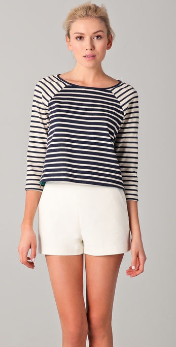 Tibi Horatio Striped Easy Top