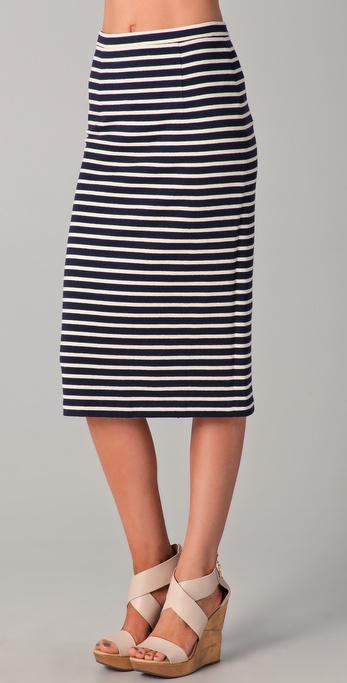 Tibi Horatio Striped Pencil Skirt
