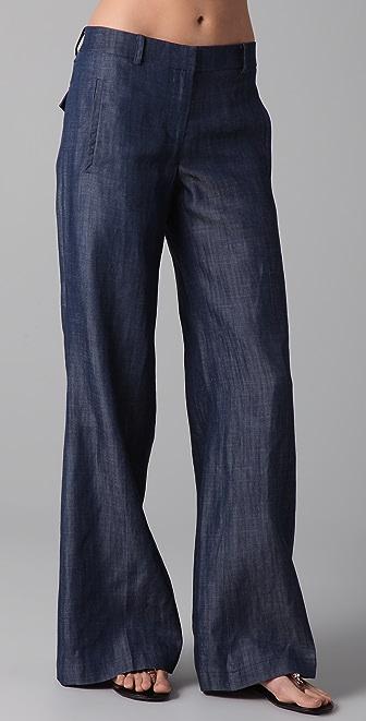 Tibi Wide Leg Jeans