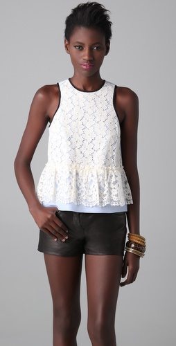 Tibi Katya Lace Top
