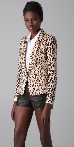 Tibi Cheetah Print Blazer