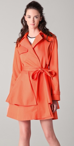 Tibi Draped Trench Coat