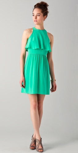 Tibi Ruffle Front Dress