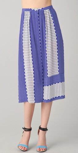 Tibi Tile Printed Skirt