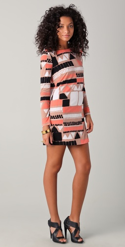 Tibi Geo Printed Shift Dress