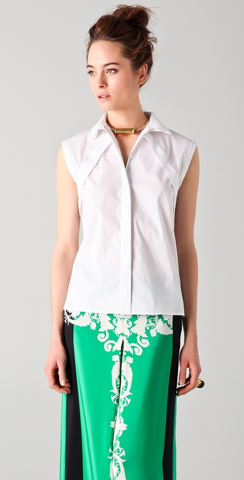 Tibi Sleeveless Blouse
