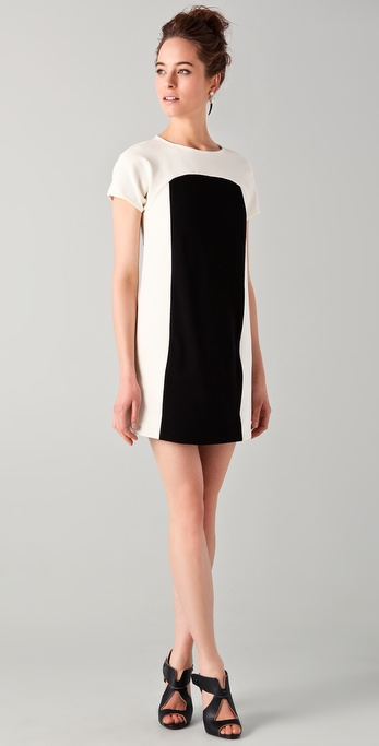 Tibi Combo Shift Dress