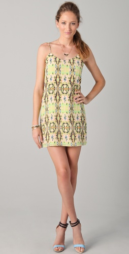 Tibi Layla Ikat Printed Slip Dress