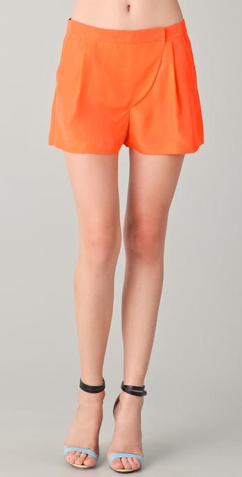 Tibi Solid Tab Front Shorts
