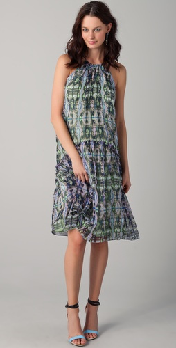 Tibi Layla Ikat Printed Dress