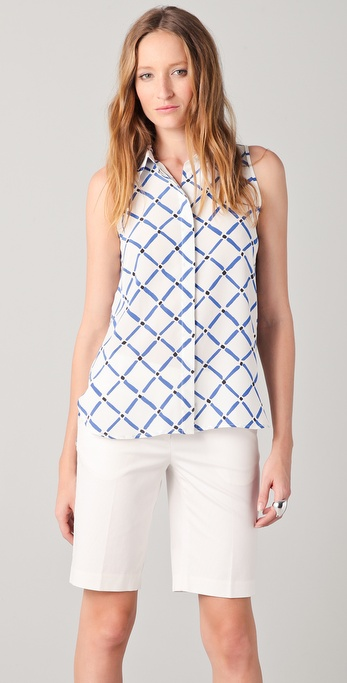 Tibi Sleeveless Nadia Shirt