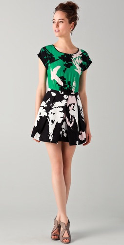 Tibi Fern Print Easy Dress