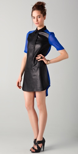 Tibi Colorblock Shirtdress