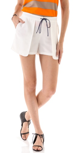 Tibi Cupro Shorts