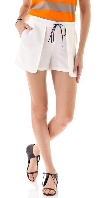 Tibi Cupro Shorts
