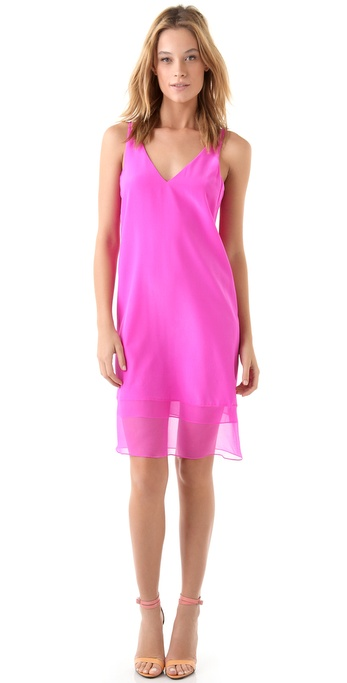 Tibi Hannah V Neck Dress
