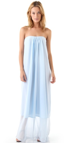 Tibi Hannah Strapless Maxi Dress