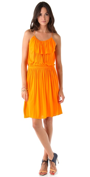 Tibi Relaxed Jersey Ruffle Easy Dress