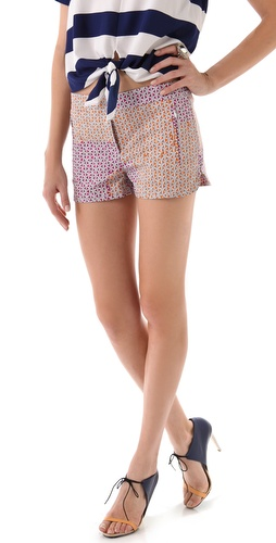 Tibi Stencil Shorts