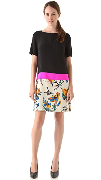 Tibi Belle Colorblock Shift Dress