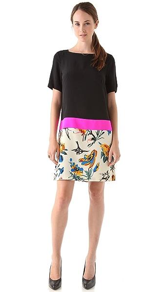 Tibi Belle Colorblock Shift Dress