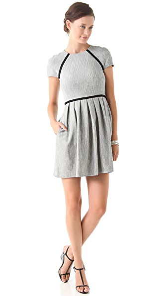 Tibi Herringbone Tweed Dress
