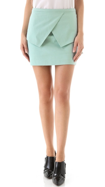 Tibi Sateen Peplum Skirt