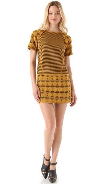 Tibi Jacquard Shift Dress