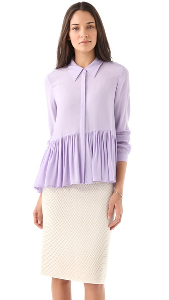 Tibi Gauzy Twill A Line Blouse