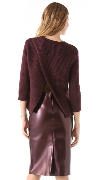 Tibi Cross Back Sweater