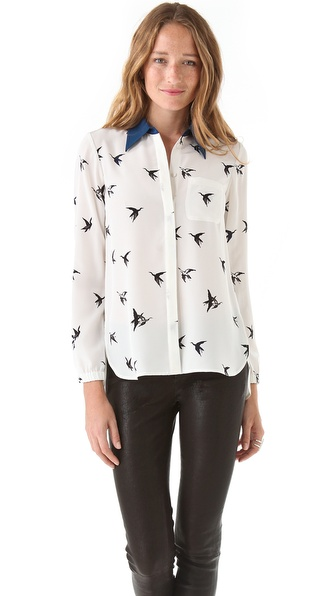 Tibi Paloma Print Shirt